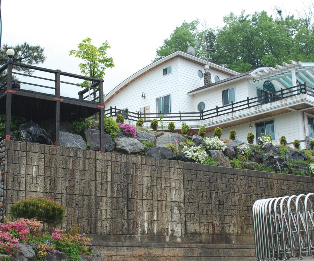 국내주거환경디자인 주택외부 - 옹벽 및 석축
